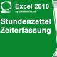 Stundenzettel-Zeiterfassung in Excel erstellen